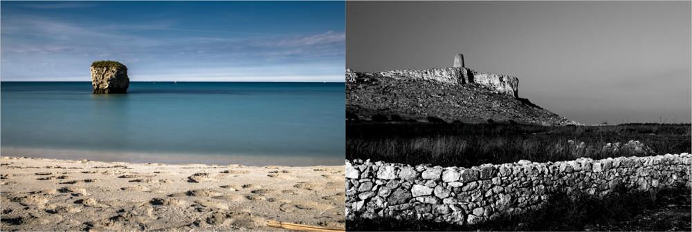 Pagina del fotolibro - Salento: scoglio Torre Specchia Ruggeri e Torre Sant'Emiliano