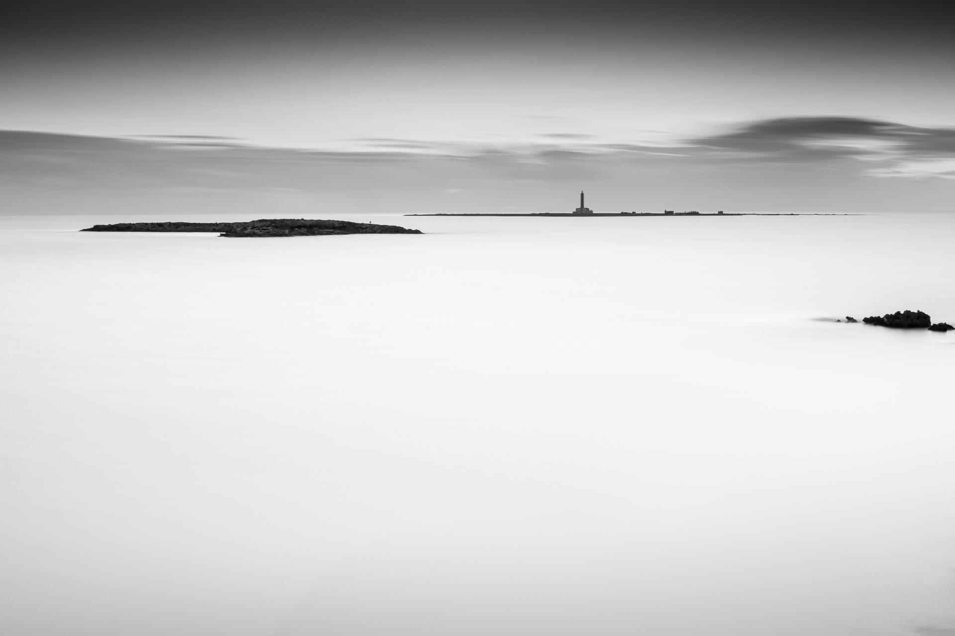 Gallipoli - Isola di Sant'Andrea, black and white long exposure photography