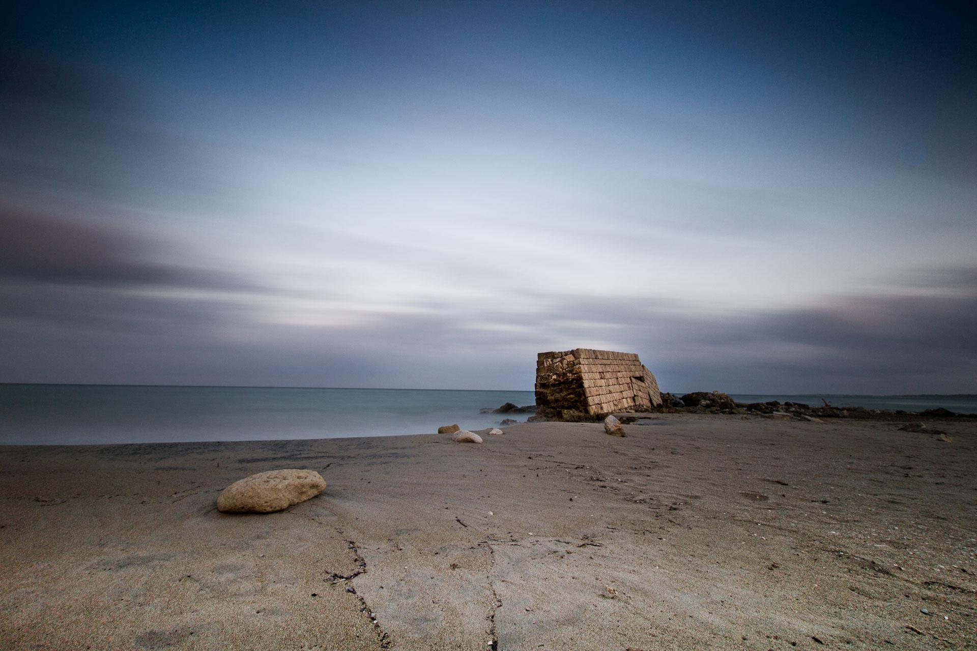 Antico Porto di Adriano, seascape long exposure photography