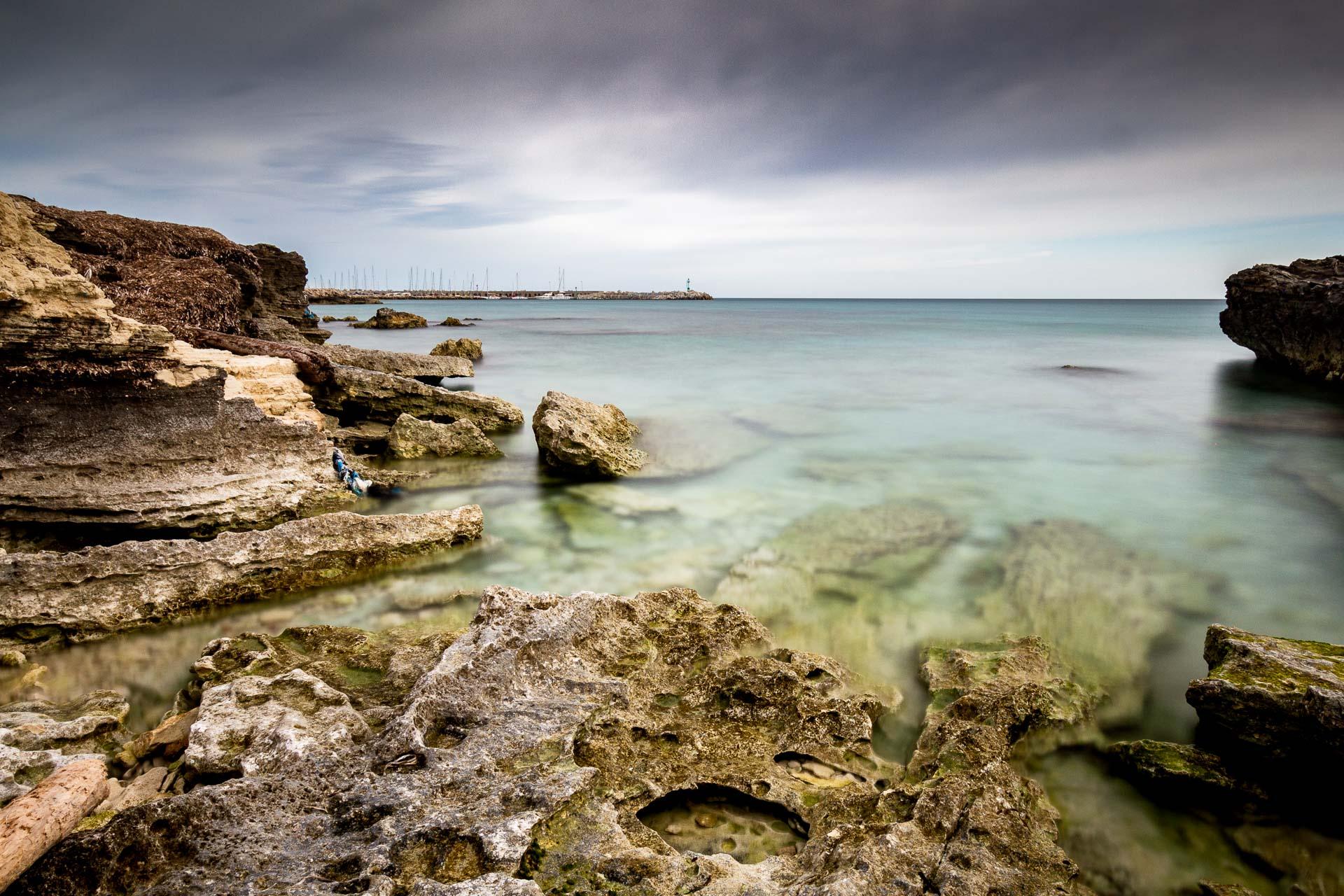 San Foca, seascape long exposure photography